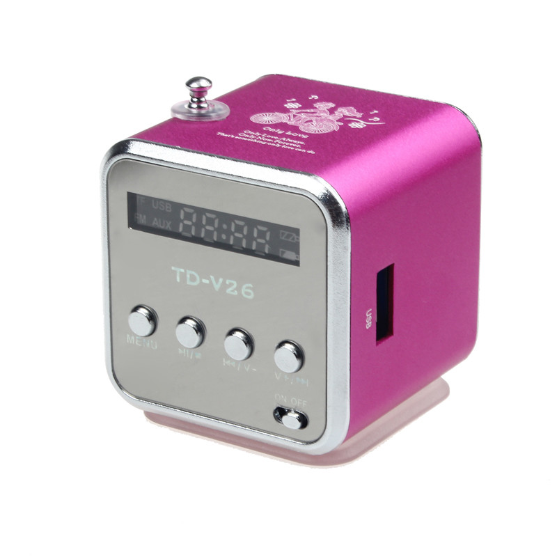 New Portable <font><b>MP3</b></font> Music <font><b>Player</b></font> LCD Screen Amplifier <font><b>Micro</b></font> <font><b>SD</b></font> TF Card USB Disk Speaker With FM Radio Electronic Products Rainbow image