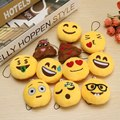 New Arrival Small Pendant Cute Soft Emoji Emotion Smiley Round Cushion mini Toy Doll universal Decor Children Favorite 13 styles