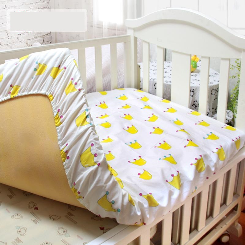 Cotton Matress Cover For Baby Crib Printed Fitted Sheet With Elastic Newborn Toddler Bed Sheet Hot Selling Newborn Bedding