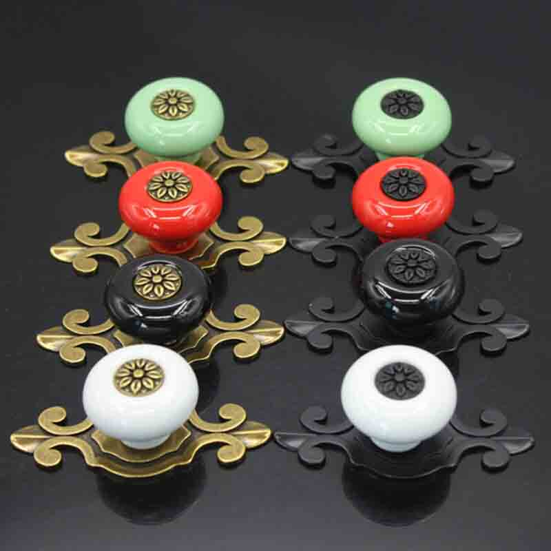 Candy Color Round Furniture Knobs Ceramic Drawer Knobs Cabinet Pulls Kitchen Handle Furniture Handle for Kids Room Hardware in Cabinet Knobs from Home Improvement
