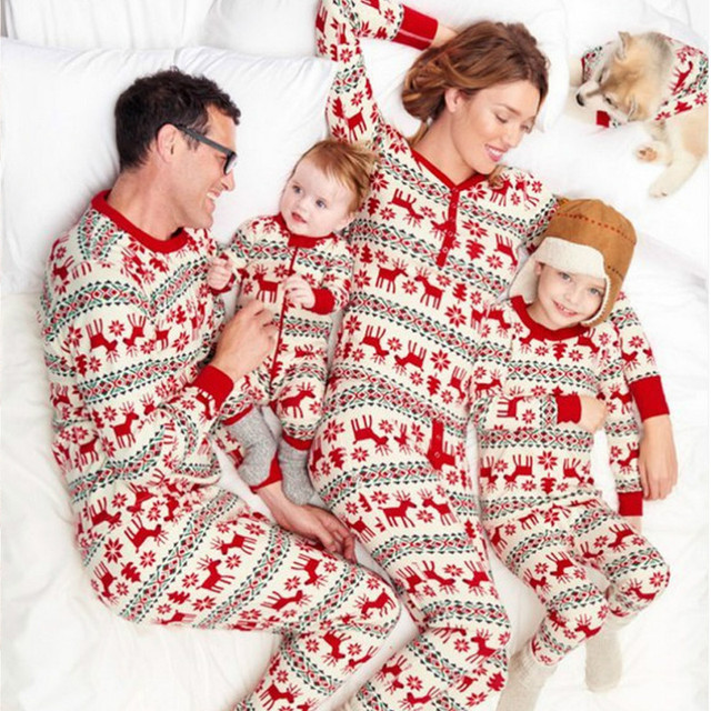 Christmas Family Matching Pajamas Sets Matching Nightwear Mother Kids Dad  Baby Outfits Fashion Father Son Family Look Homewear - Christmas Family Matching Pajamas Sets Matching Nightwear Mother