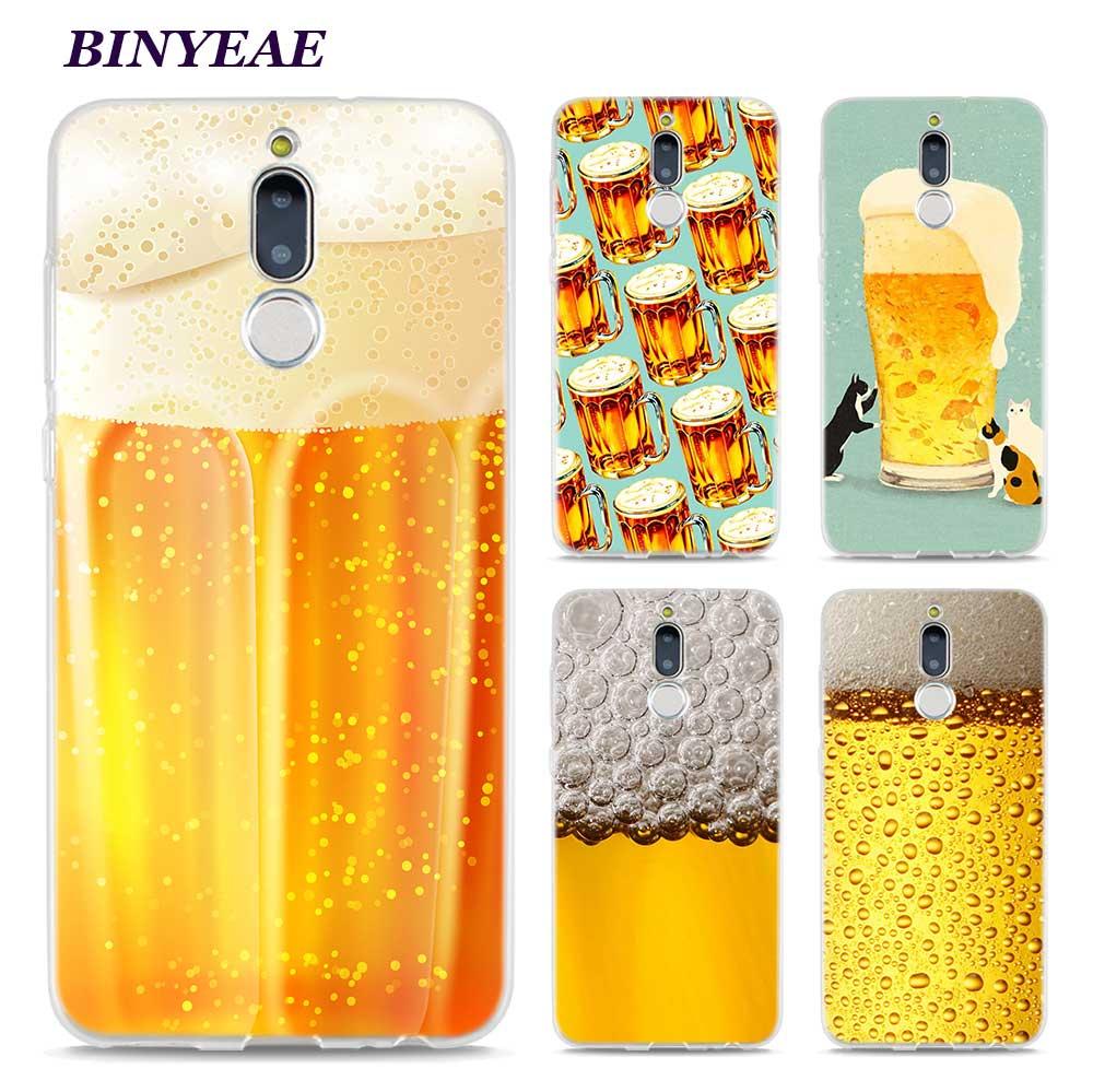 Binyeae развлечение к пиву Открытая Летняя обувь кожи Стиль ясно Чехлы ТПУ телефон для Huawei Коврики 10 9 s 10Pro P8 P9 p10 Lite 2017 мини