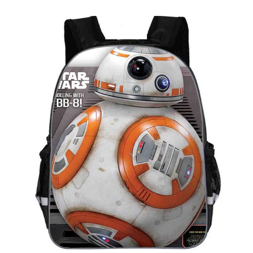 11-16inch Star Wars Backpack Movie The Force Awaken School Bag Darth Vader Yoda Jedi Kid's Men Primary Bags Custom Made