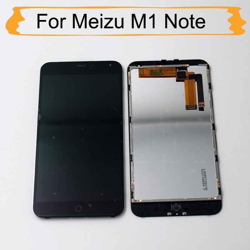 100% AAA Brand New Meizu m1 Note lcd With Frame Digitizer + Display For Meizu M1 Note 5.5
