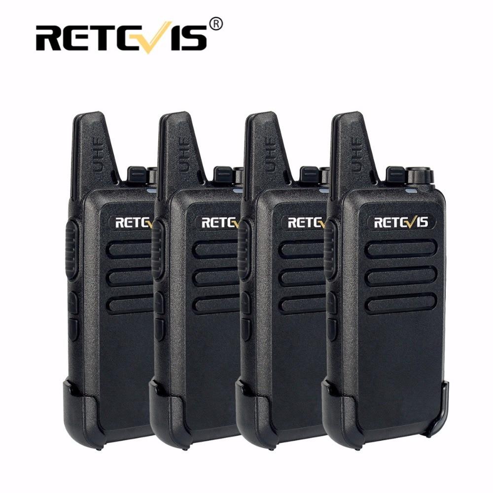 4 stücke Retevis RT22 Mini Walkie Talkie Radio 2 Watt 16CH 1000 mAh UHF VOX Amateurfunk Hf Transceiver Handlich 2 2-wege-radio Comunicador