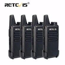 4 шт. Retevis RT22 Мини Walkie Talkie Радио 2 Вт 16CH 1000 мАч UHF VOX радиолюбительских КВ трансивер удобный 2 способ радио ФИО comunicador