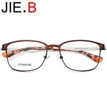 Round frame glasses mens model ultra light titanium metal optical screwless