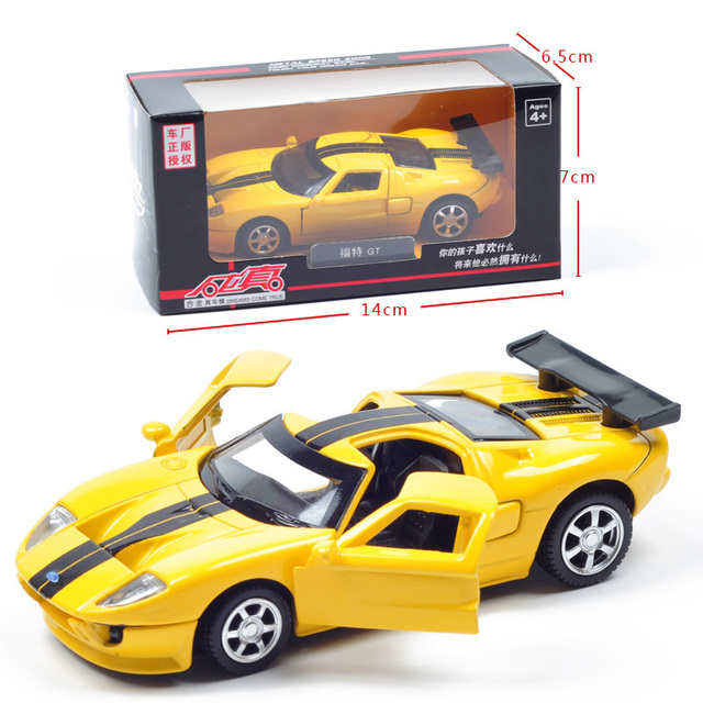 Alloy Car Models Toy Ford Gt Two Open Door And Rear Wheel With