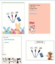 A4 Magnetic Whiteboard Fridge Magnets Sticker Dry Wipe Marker Message Board Memo Pads Daily Week Planner To Do List Kitchen Home недорого