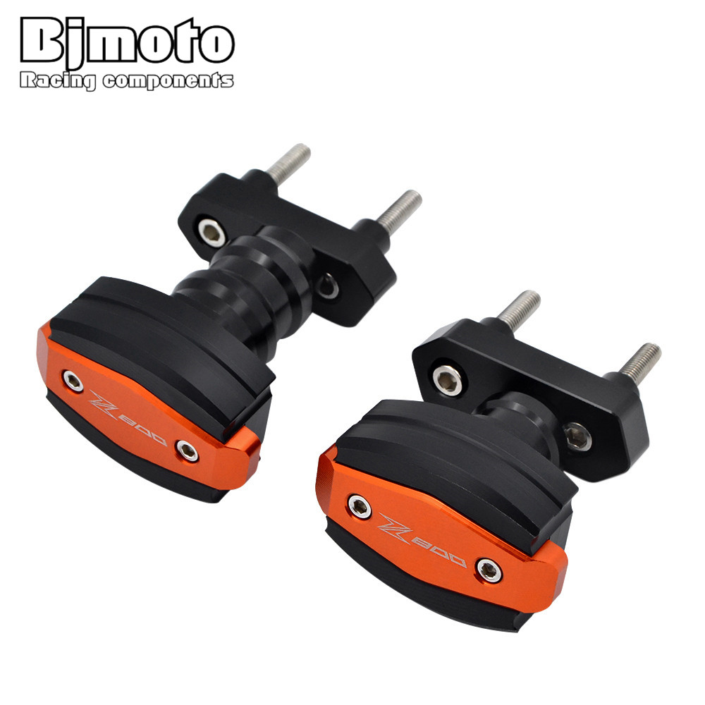 BJMOTO For Kawasaki Z800 2012 2013 2014 2015 2016 2017 CNC Aluminum Left and Right Motorcycle Frame Slider Anti Crash Protector motorcycle cnc aluminum frame sliders crash pads protector suitable for kawasaki z800 2012 2013 2014 2015 2016 green