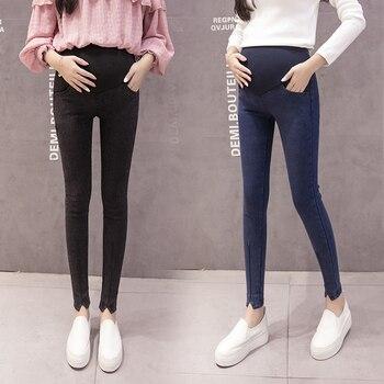 04042f124 Pantalones para mujeres embarazadas Ropa cintura elástica pantalones de maternidad  embarazo vaqueros Leggings Ropa Premama auctor id