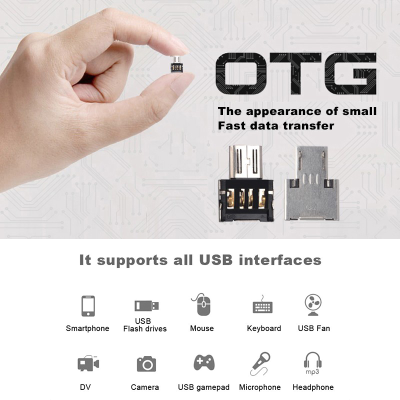 Mini Type C OTG Connector Micro Usb OTG Jack Adapter For Smartphone Adaptateur Android Mobile Phone Jack Splitter USB Converter(China)