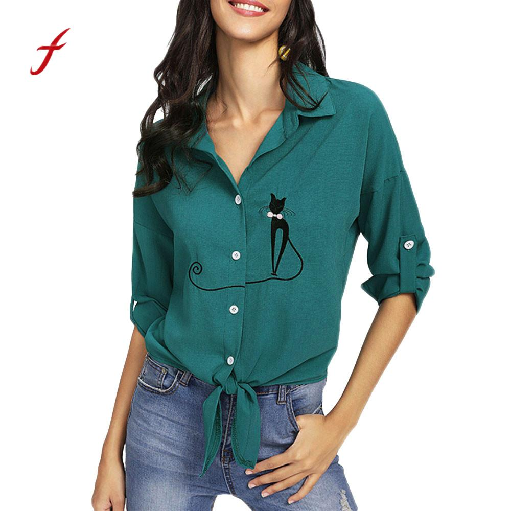Back To Search Resultswomen's Clothing Sunny Solid Blouse Office Ladies Tops Long Sleeve Button Bandage Camisas Mujer Spring Shirt Female Womens Tops And Blouses Sheer