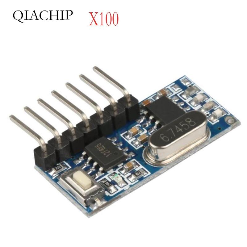 100 PCS 433 mhz RF Empfanger Lernen Code Decoder Modul Drahtlose 4 Kanal ausgang Fvr Fernbedienungen 1527 2262 encoding