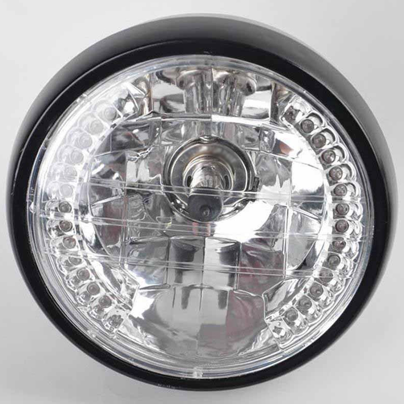 Universal 7 Motorcycle ATV Headlight LED Turn Signal Light W/ Mount Brackets