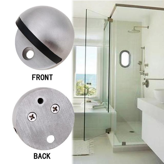 Zinc Alloy Magnet Door Stop Stainless Steel Door Stopper Magnetic