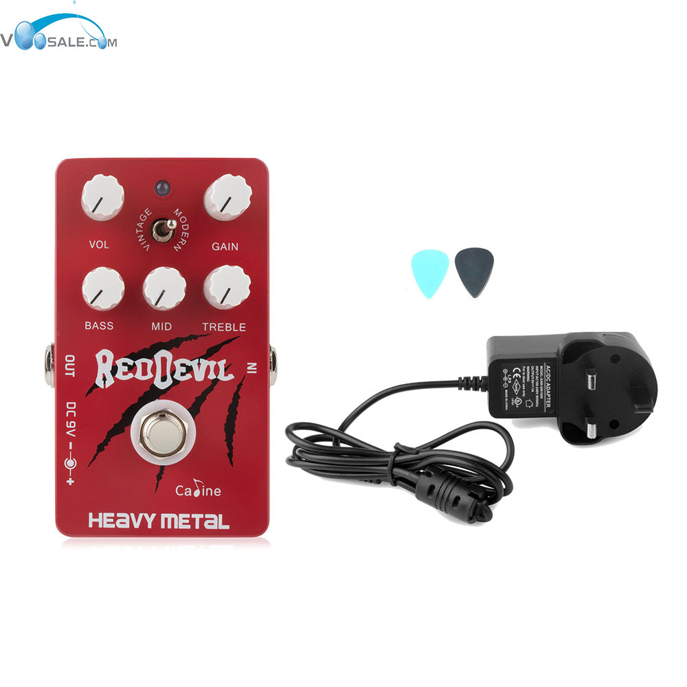 Caline CP-30 Heavy Metal Digital Delay Guitar with True Bypass Pedals+AC100V-240V to DC9V/1A Adapter Use Have AU UK US EU Plug aroma adr 3 dumbler amp simulator guitar effect pedal mini single pedals with true bypass aluminium alloy guitar accessories