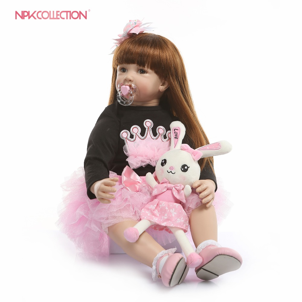 NPKCOLLECTION 60cm Silicone Reborn Girl Baby Doll Toys Vinyl Princess Toddler Babies Dolls Birthday Gift Limited Edition DollNPKCOLLECTION 60cm Silicone Reborn Girl Baby Doll Toys Vinyl Princess Toddler Babies Dolls Birthday Gift Limited Edition Doll