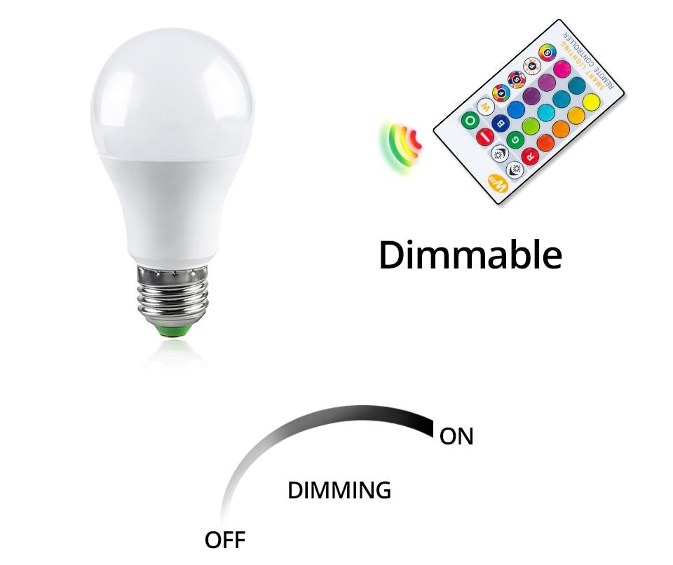 85-265V E27 LED Lamp RGB 15W Bluetooth APP Wifi Control Smart Bulb 10W RGBW RGBWW Light Bulb IR Remote Control Home Lighting (31)