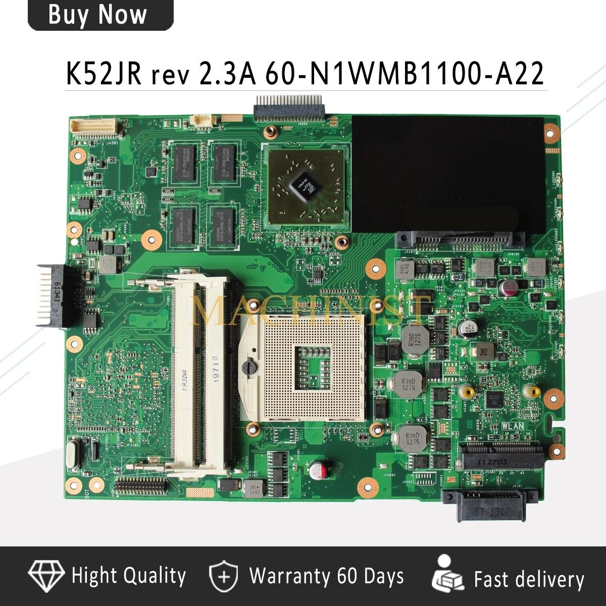 REV: 2.3A для ASUS K52JR материнских плат REV: 2.3A HD 6300 M HM55 для ASUS A52J X52J K52J Материнская плата ноутбука 100% тестирование нетронутыми