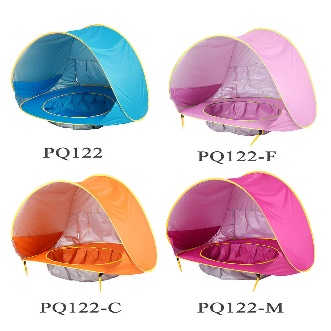 Baby Beach Tent Pop up Beach Tent UV Protection Sun Shelters Baby Pool Cross-Border Children Tent Ocean Outdoor Sun Pool beach C