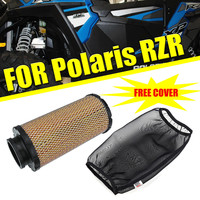 KEMIMOTO UTV Cold Air Filter Intak Free Black Dust Proof Protective Cover for Polaris RZR XP1000 2014 2018 2015 2016 2017