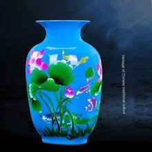 Jingdezhen Porcelain Flower Vase Ceramic Flower Holder 13 Models Choosing Home Desk Christmas Decoration Decoration