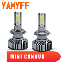 YAMYFF Canbus H4 LED H7 H1 Auto Headlight Bulbs H11 H8 H3 H27 880 9005 HB3 9006 Mini Car Lights Car Lamp 6000K LED Fog Lamp 12V(China)