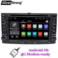 SilverStrong Android8.1 2DIN 4G LTE modem Car DVD for KIA Sportage 2007 2010 GPS Navigation 2Din Car Radio Player support TPMS