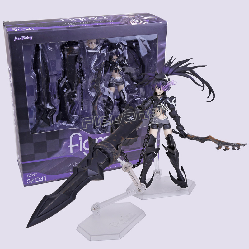 Anime Insane Black Rock Shooter Figma SP-041 PVC Action Figure Collectible Toy 16.5cm anime figma 289 sword art online ii kirito alo ver alover kirigaya kazuto pvc action figure collectible model toy 14cm kt2969
