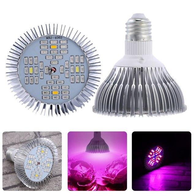 LED Grow light E27 SMD 5730 LED Lamp LED Grow Lights for Flower Plant Grow Aquarium Hydroponics system AC 85V- 265V