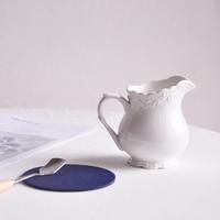 Europese minimalistische stijl retro afternoon tea keramische melk pot Timing cup tip mond pot plus melk cup melk tank 200 ML waterkoker|Schenkkannen|   -