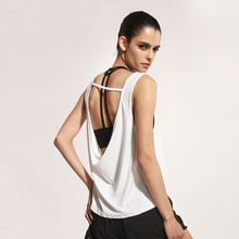 Summer Sexy Women Tank Tops Quick Dry Loose Gym Fitness Sport Sleeveless Vest Singlet for Running Training T-shirt  P069