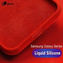 GKK Original Liquid Silicone case for Samsung Note 8 9 S9 S8 Plus Case Soft Baby-Skin Galaxy S10 plus lite 10e