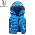 New Fashion Winter Thick Warm Hooded Down Vests Parent-child Waistcoat Lovers Casual Plus Size Jackets Outwear For Men Women