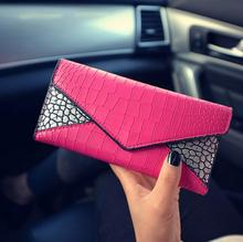 Fashion ladies wallet Crocodile grain design and wallet Long zero wallet pu leather fashion female wallet