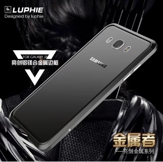 imágenes para Para Samsung Galaxy J7 2016 Original LUPHIE Metal De Aluminio Del Marco caso de Parachoques de La Cubierta para Samsung J7 2016 Teléfono De Lujo Del metal casos