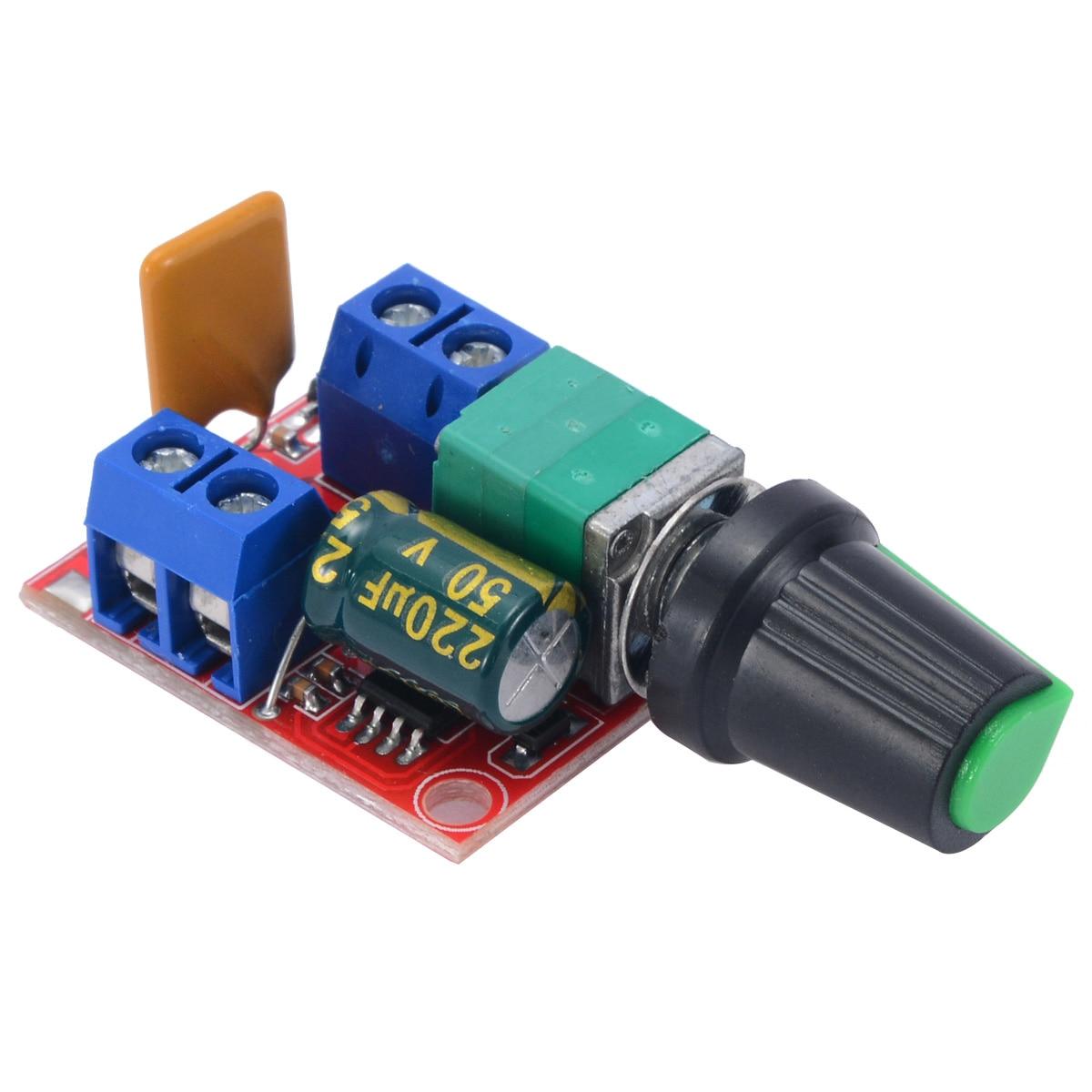 Electrical Motor Speed Controller Module 3-35V 12V 24V PWM DC Motor Speed Control Regulator Adjustable Switch LED Fan Dimmer