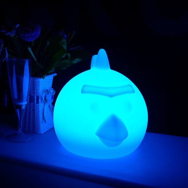LED Night Light USB rechargeable bird desk table lamp RGB Floating outdoor waterproof glass light with remote control decor lamp