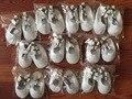Comercio al por mayor 200 par/lote nuevo gladiador zapatos de vestido de las muchachas de bebé de cuero genuino zapatillas de ballet zapatos de bebé zapatos de bebé al por mayor