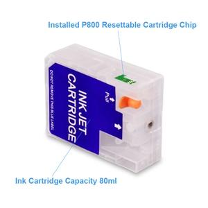 Image 3 - 9 colori/Set T8501 T8501 T8509 Vuoto Cartuccia di Inchiostro Riutilizzabile Con Il Circuito di Reset Per Epson SureColor P800 SC P800 Stampante 80 ml/pz