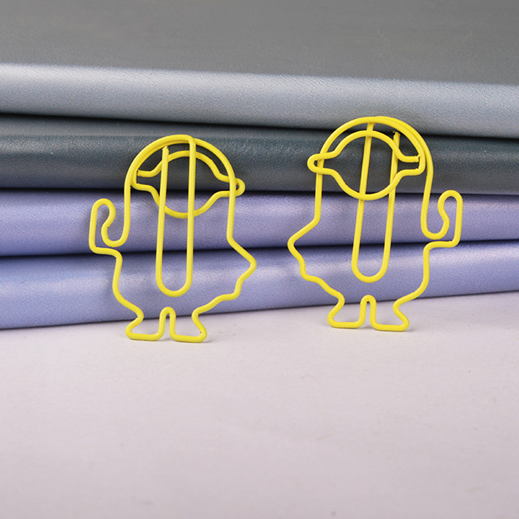 Metal Paper Clip Yellow Robot Paper Clips Office Paperclip Stationery Paperclips