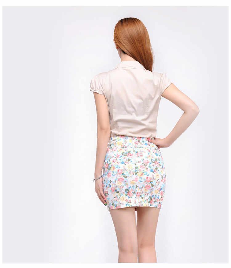 643187e3e5 Girl blend cotton skirt for women casual summer slim fitted mini skirts  short black white floral skirt high waist pencil skirts