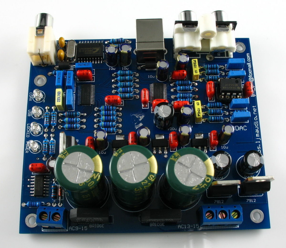 CS8416+AK4396+NE5532P DAC Decoder Board Kit Supports 24BIT