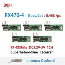 QIACHIP RF 433Mhz Superheterodyne Receiver Wireless Relay DC 1CH ASK/OOK Module to MCU/ARM Arduino UNO 433.92 Mhz Remote Control
