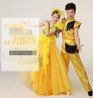 Оптовая Продажа Модные Стиль элегантное праздничное платье светло желтый Цвет платья для танцев для Для женщин и человек
