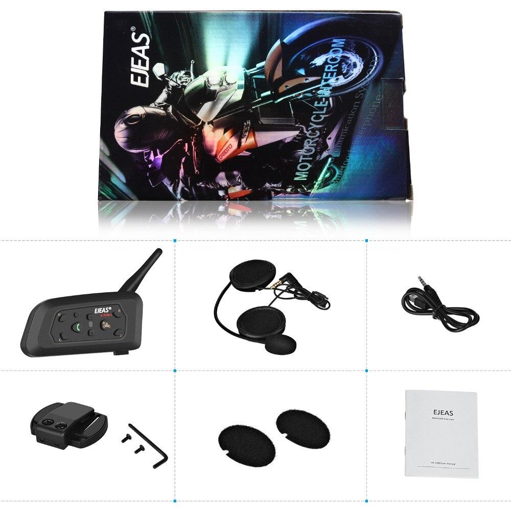 EJEAS casque interphone Moto casque Comunicador Moto interphone casques haut-parleur sans fil Bluetooth parler portée dans 1200 m - 5