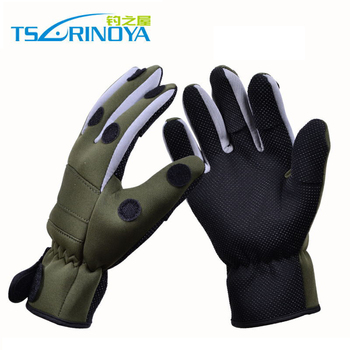 Guantes de pesca Tsurinoya impermeables calientes XL invierno dedo completo y Tres dedos señuelo guantes de pesca