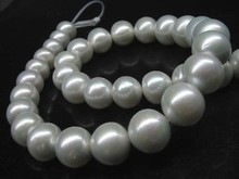 Outstanding Luster Natural Grey White AA 15mm Round Nuclear Pearls 8400
