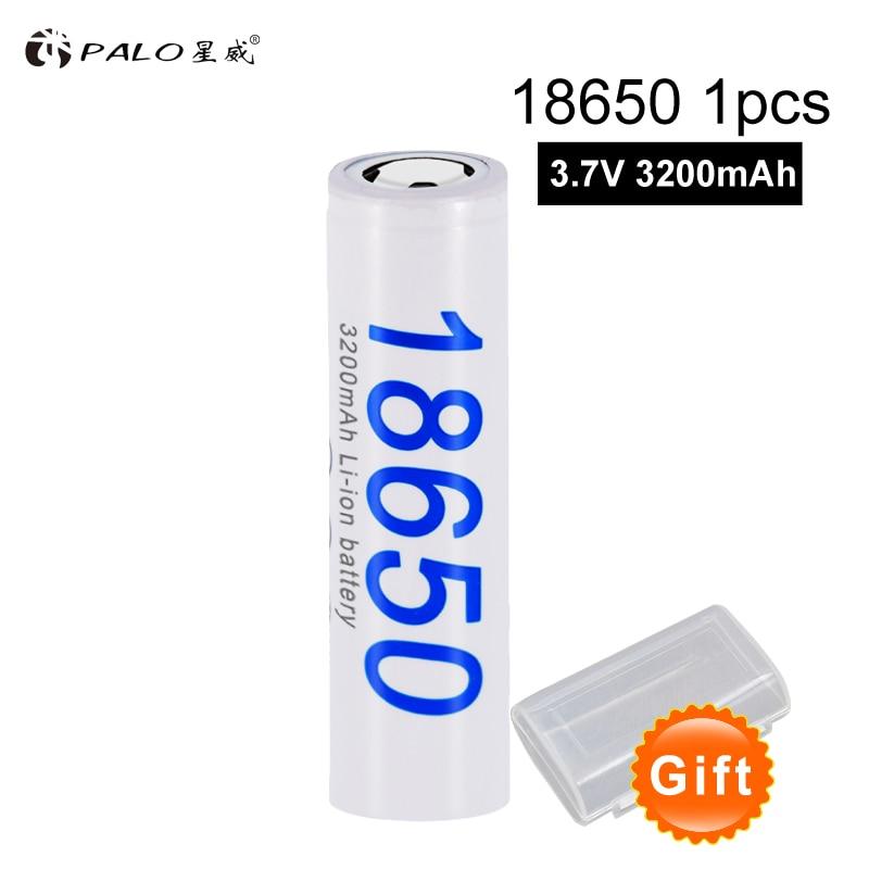 PALO 1PCS-10PCS PALO New DBHE41865 3200mAh Lithium Battery 18650 3.7V power electronic batteries for LG 1pcs for samsung original 18650 25r inr1865025r 20a discharge lithium batteries 2500mah electronic cigarette power battery